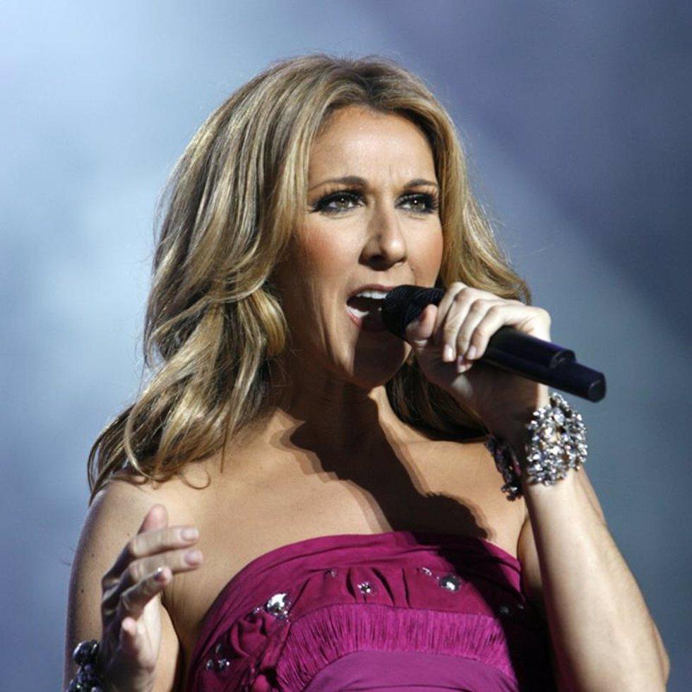 Celine Dion en plena actuación