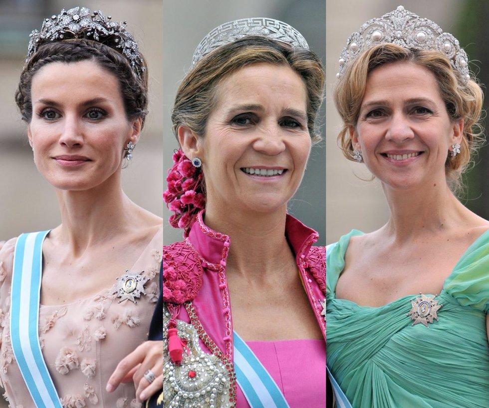 La Princesa Letizia, la Infanta Elena y la Infanta Cristina