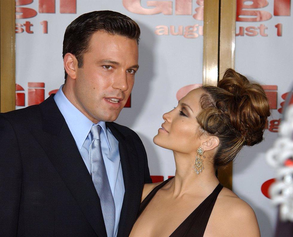El actor Ben Affleck y la actriz y cantante Jennifer Lopez cuando estaban juntos