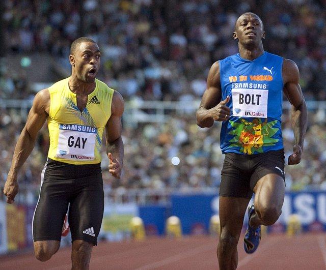 Tyson Gay le gana la partida a Usain Bolt