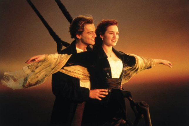 Kate Winslet y Leonardo DiCaprio en Titanic
