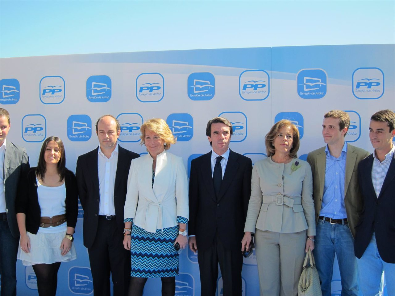 Aznar con Aguirre y Botella y Torrejón