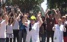 Trabajadores del Hospital Clínic protestan contra los recortes