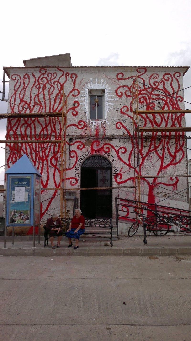 Inaugurado el primer contenedor de arte de casas de don pedro badajoz - Casas de don pedro badajoz ...