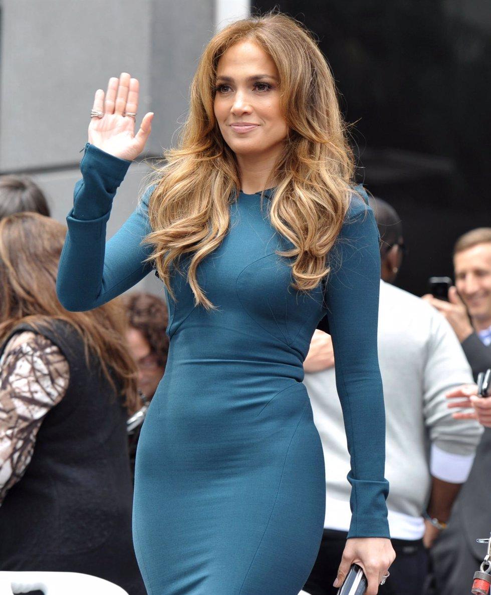 Jennifer Lopez Saludando En Un Evento