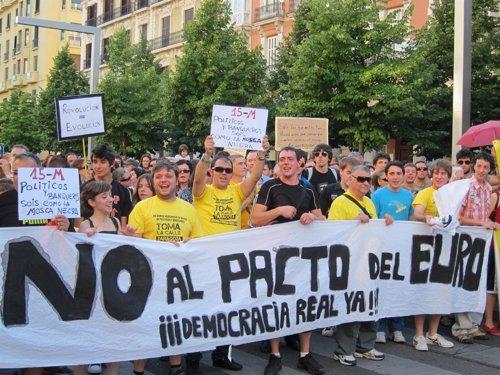 Protestas contra el Pacto del Euro