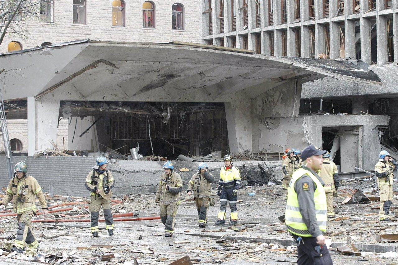 Edificios Del Gobierno Noruego Dañados Por La Bomba En Oslo