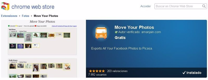 Mover las fotos de Facebook a Google+ (chromium,chrome)