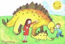 Una De Las Postales De Dinosaurios