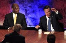 Mitt Romney Y Herman Cain En Un Debate