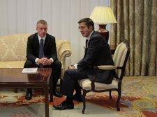 El Presidente Del PNV, Iñigo Urkullu Con El Lehendakari Patxi López