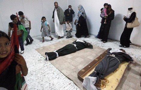 Cadáver De Gadafi En Una Cámara Frigorífica De Sirte