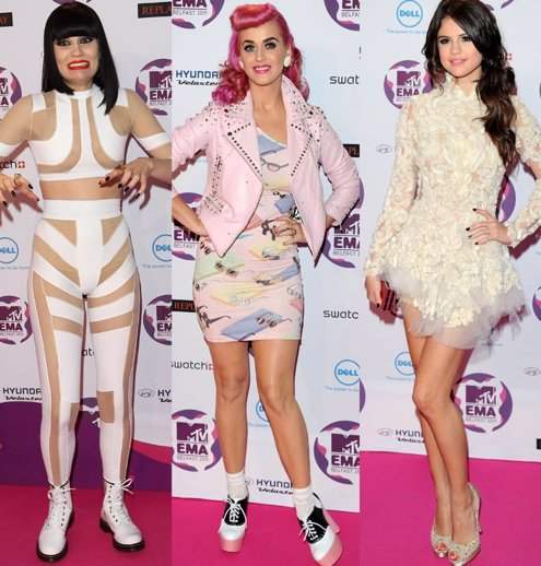 Montaje Looks Selena Gomez, Katy Perry Y Jessei Je