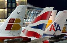 Las Colas De Aviones De Iberia, British Y American Airlines