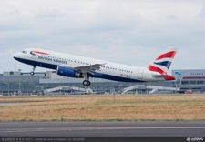 Un Avión De British Despega De La Pista