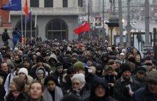 Manifestación En Moscú Contra El Resultado De Las Elecciones