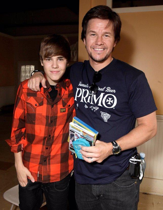 Justin Bieber Con Mark Wahlberg