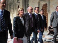 El Presidente Del Govern, Artur Mas Y La Consellera Pilar Fdez. Bozal