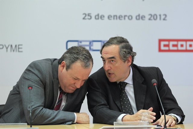 Juan Rosell (CEOE) Y Jesús Terciado (Cepyme)