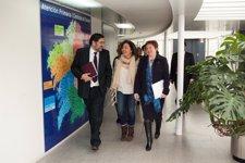 A conselleira de Sanidade, Rocío Mosquera Álvarez, a conselleira de Traballo e B