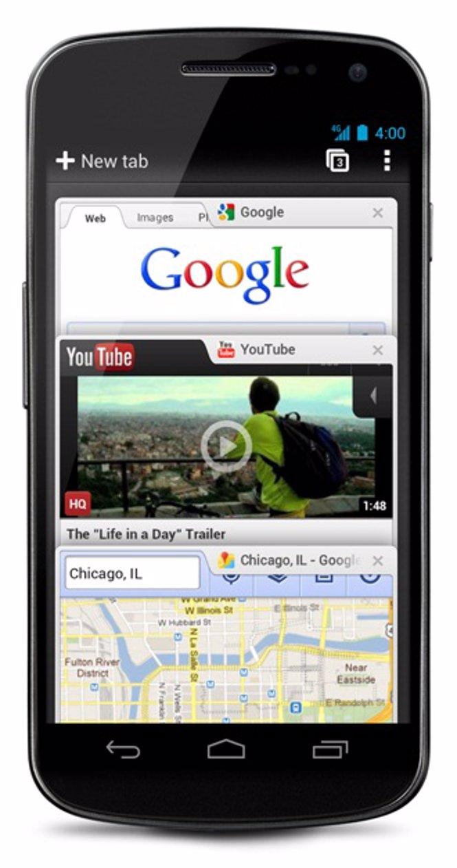 Chrome Beta para Android IceCream Sandwich