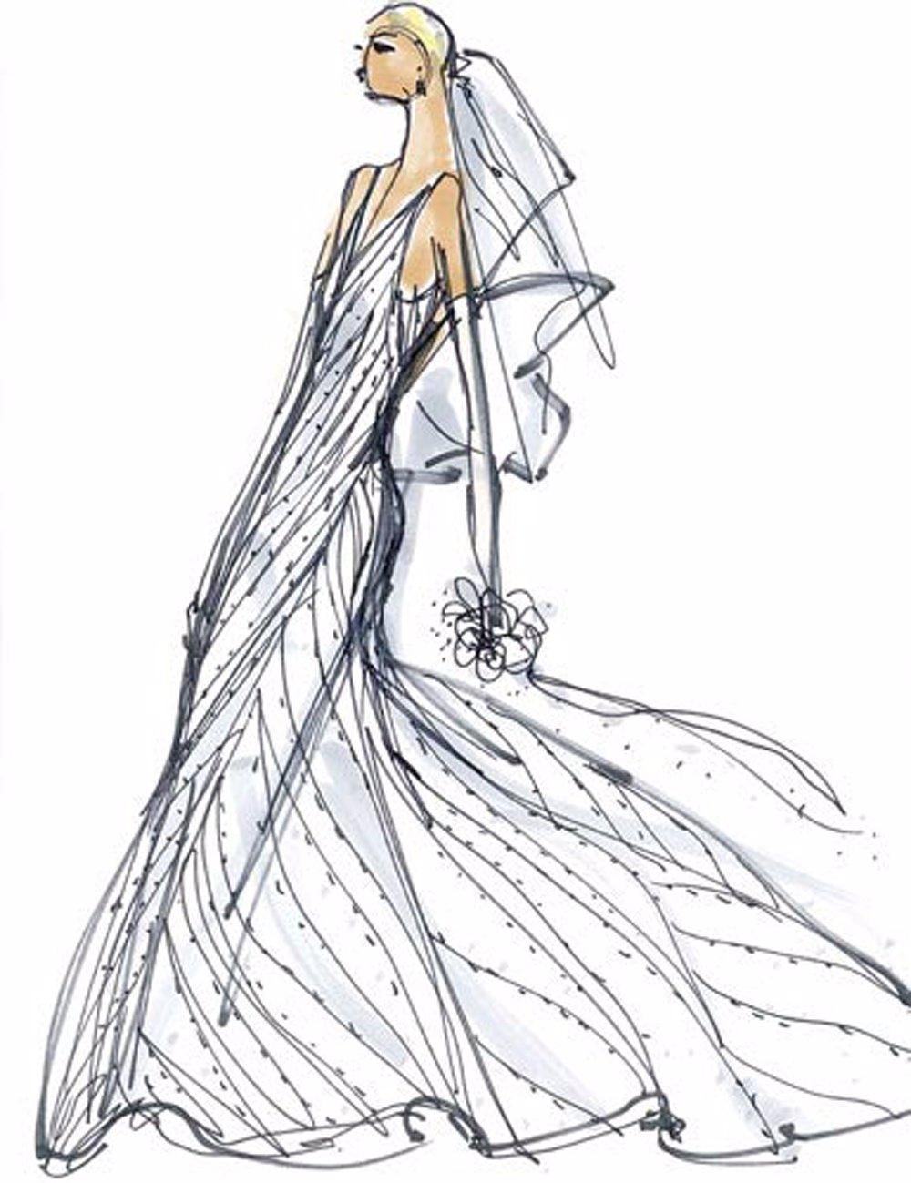 Boceto Del Vestido De Novia De Marta Ortega