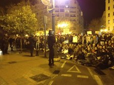 Jóvenes En Un Momento De La Manifestación De Este Jueves En Valencia