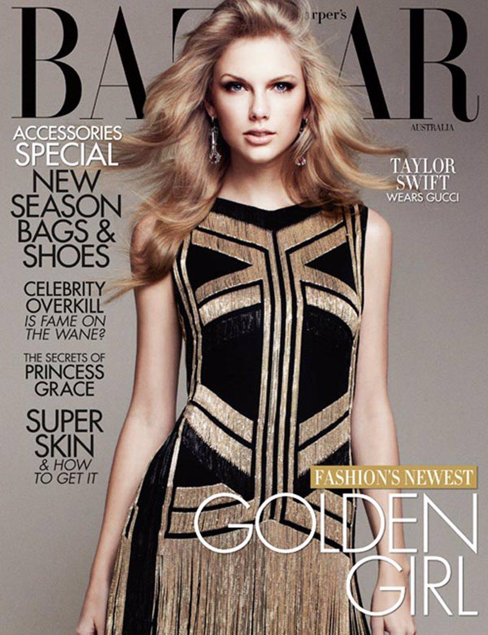 Taylor Swift, De Gucci, Para La Portada De Harper's Bazaar