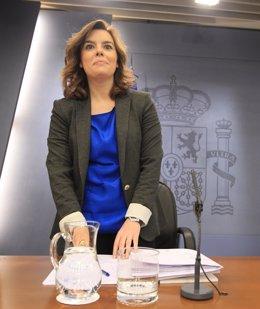Soraya Sáenz De Santamaría En La RDP Del Consejo De Ministros