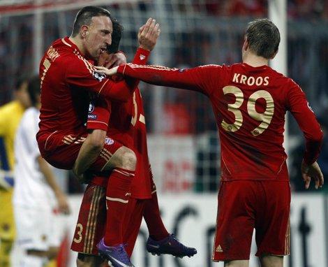 Ribery Celebra Un Gol Del Bayern
