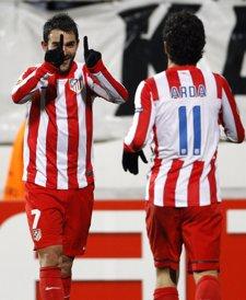Adrián Y Arda Turan Celebran El Primer Gol Del Atético De Madrid