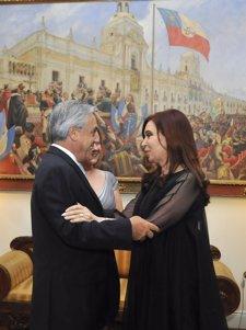 Sebastián Piñera Y Cristina Fernández De Kirchner.