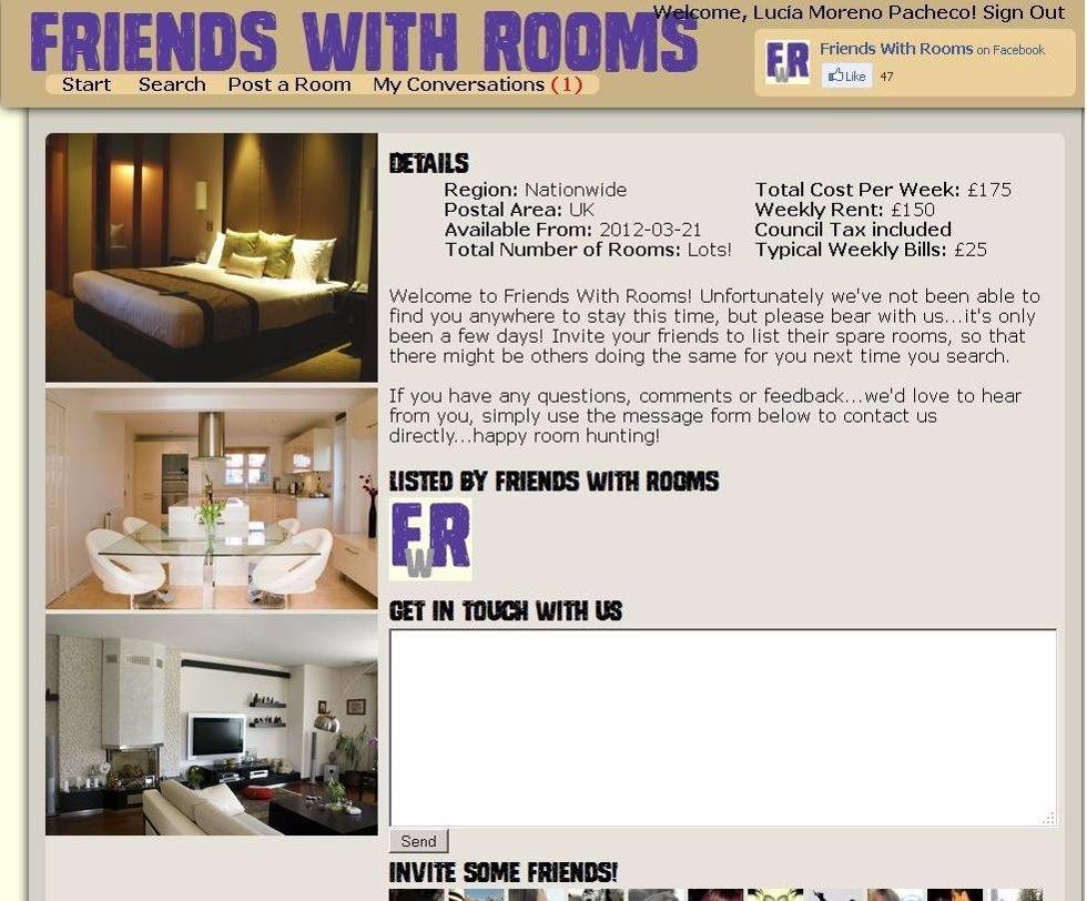 Una aplicaci n de facebook para encontrar el compa ero de for Aplicacion para buscar habitacion