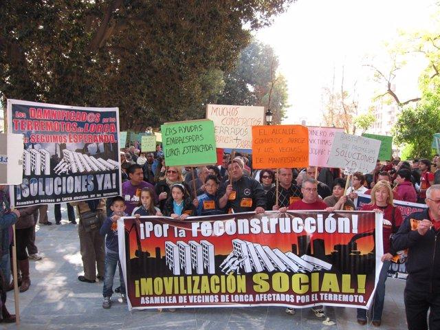 Concentración-Protesta Por El Estancamiento De Las Ayudas Por Los Terremotos