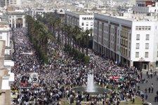 Manifestación En Rabat (Marruecos)