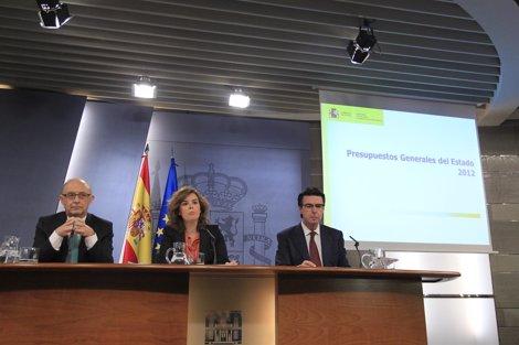 Cristóbal Montoro, Soraya Sáenz De Santamaría Y José Manuel Soria