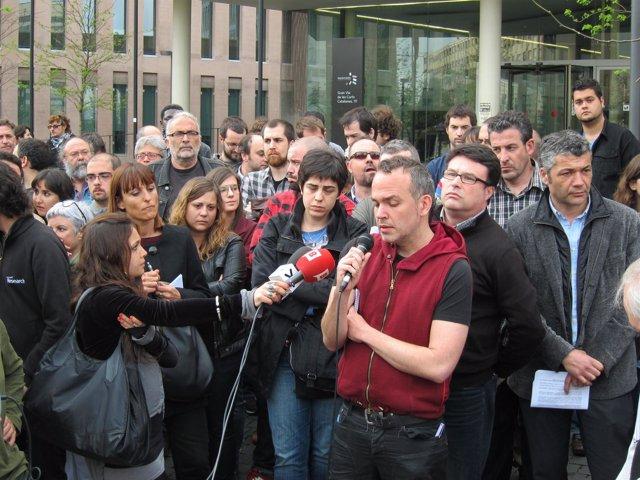 Jordi Bonet (Favb) En La Concentración Por Los Estudiantes Detenidos En El 29M