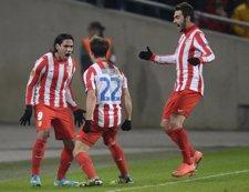El Atlético Celebra El Gol De Falcao