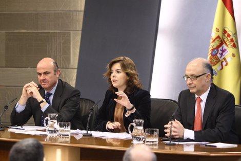 Cristóbal Montoro, Luis De Guindos Y Soraya Sáenz De Santamaría