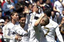 Ramos, Ozil, Benzema Y Cristiano Ronaldo En El Real Madrid - Sevilla