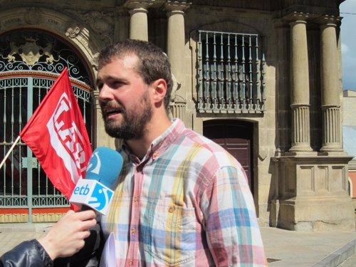 El Responsable De LAB En Navarra, Igor Arroyo.