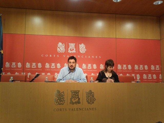 Ignacio Blanco Y Marina Albiol Tras La Junta De Portavoces
