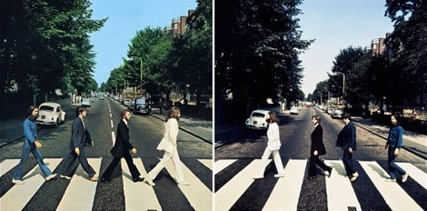 Fotografías de los Beatles en Abbey Road