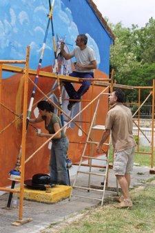 Restauración Del Mural Por Parte De Tierra De Campos Viva