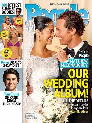 Matthew McConaughey y Camila Alves para People