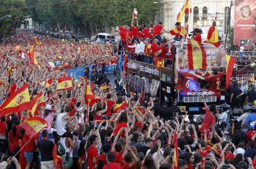 Celebración Eurocopa 2012 Cibeles