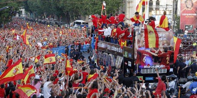Foto: Cibeles celebra la Eurocopa (REUTERS)