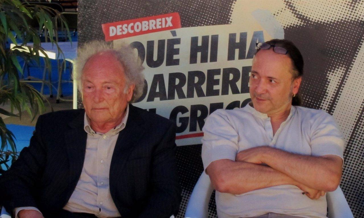 Eduard Punset Y El Director Del Festival Grec, Ferran Simó