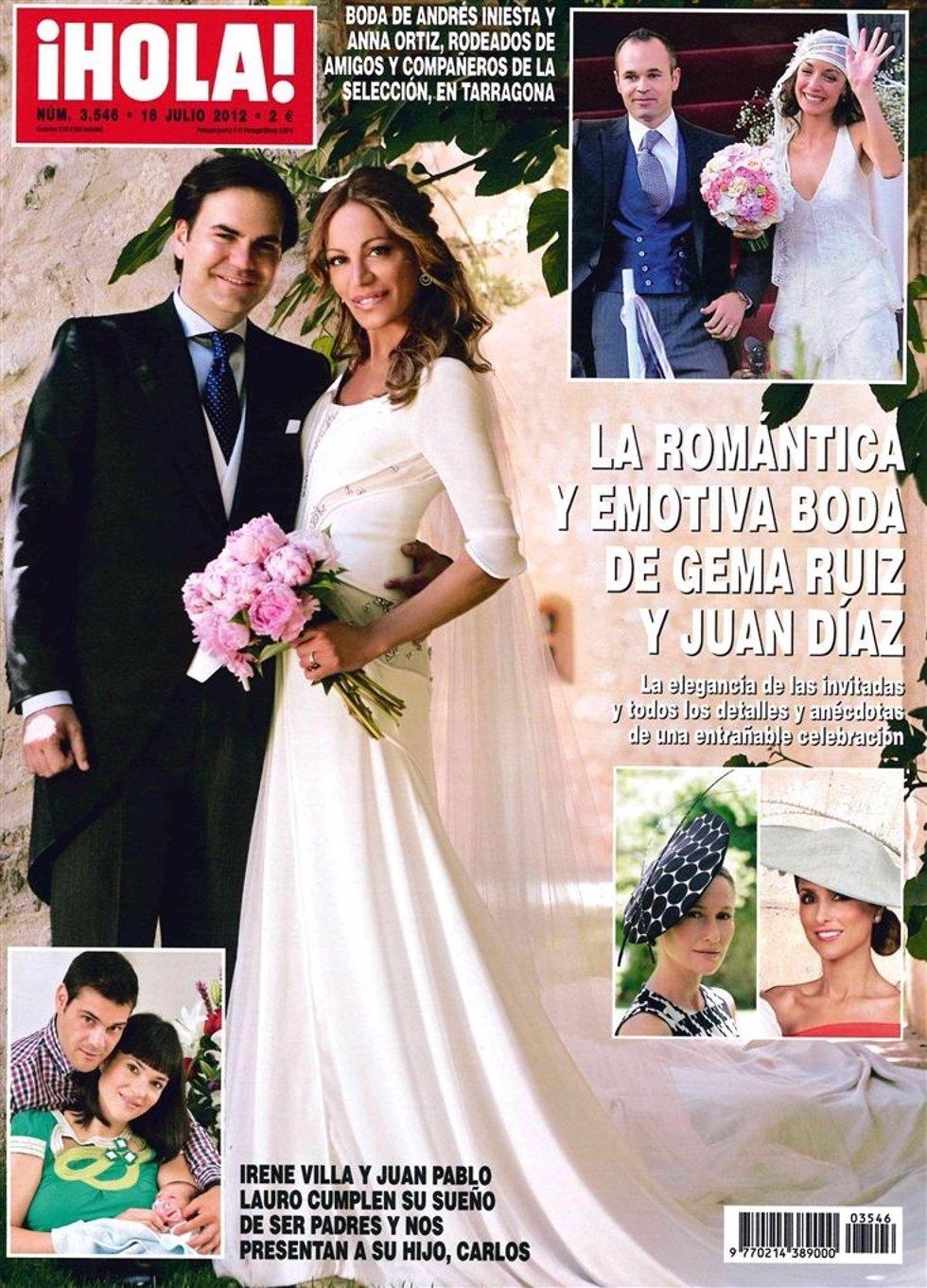 Portada de la revista Hola con Gema Ruiz