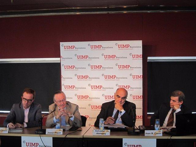 Josep Piqué en la conferencia del Uimp Barcelona Centro Ernest Lluch